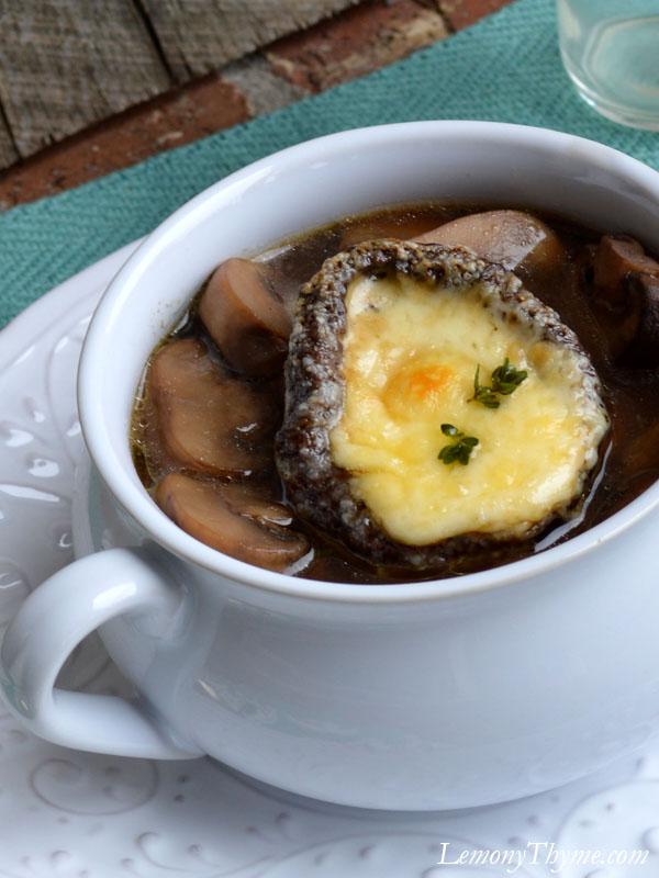 Mushroom Soup with Cheesy Portobella Crouton7