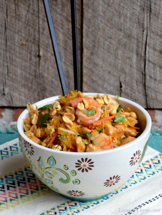 Easy Pad Thai with Spaghetti Squash2