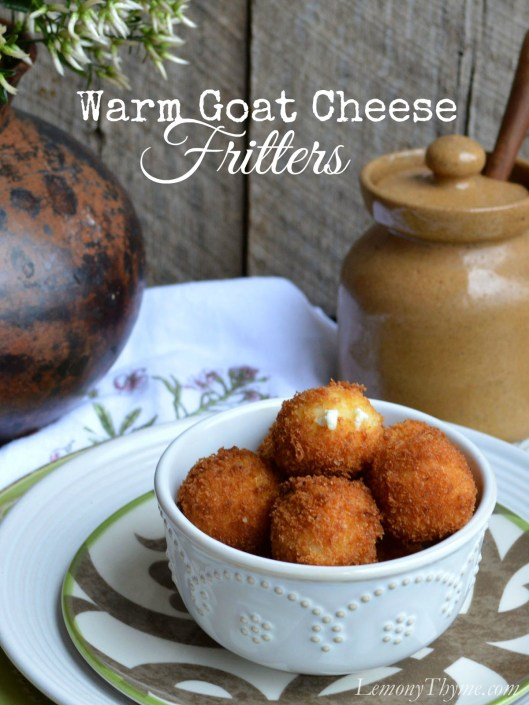 Warm Goat Cheese Fritters | LemonyThyme.com