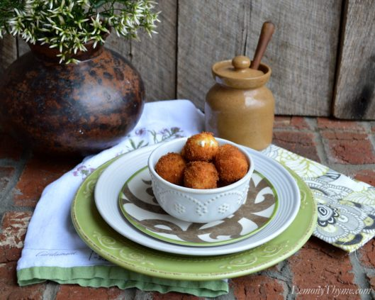 Warm Goat Cheese Fritters4