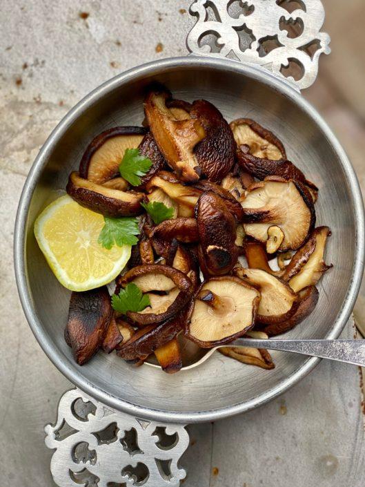 Gorgeous Shiitake mushrooms work so well in many recipes.