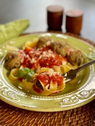 Eggplant Meatballs have a wonderful texture that is both 'meaty' and moist with fresh herbs smiling throughout. They're perfect served with pasta and sauce.