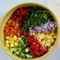 Spring Chopped Salad veggie ingredients