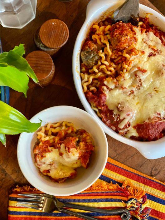 Spaghetti & Meatball Casserole of Love