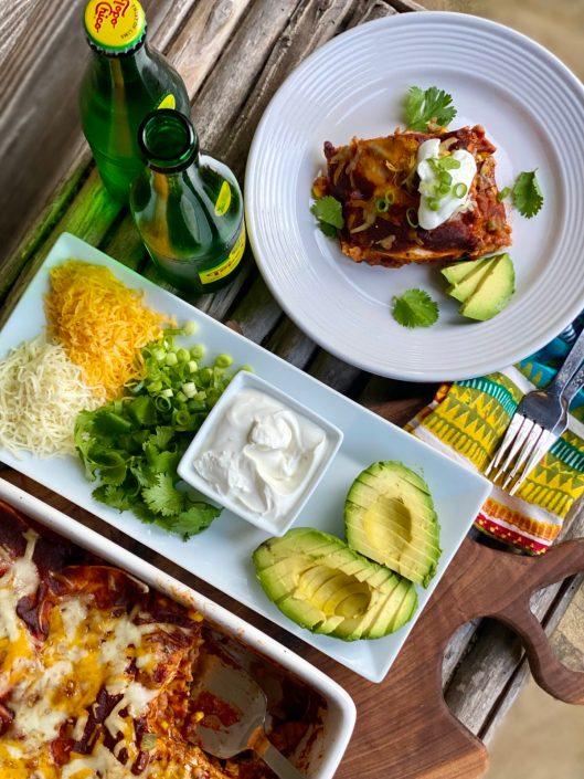 Loaded Easy Chicken Enchiladas Casserole