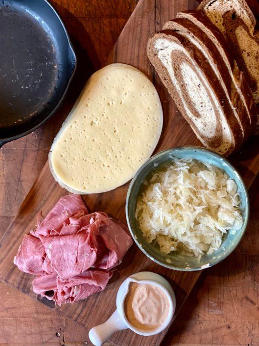 The Classic Reuben Sandwich Ingredients