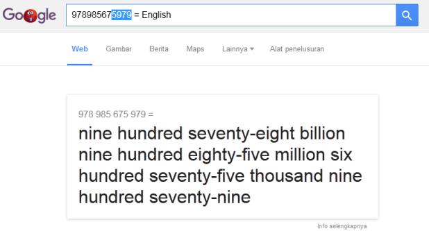 Cara mengetahui cara pronounce angka