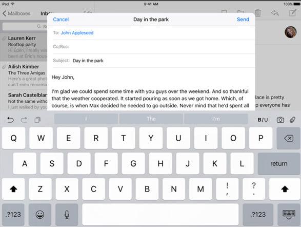 Layout keyboard iOS 9