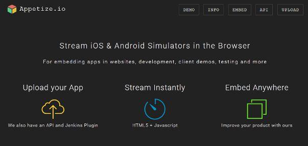 appetize io iOS emulator for windows