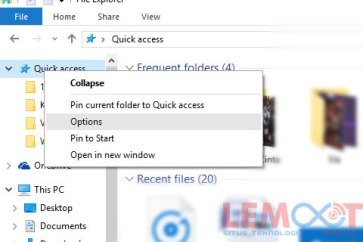 quick access, windows 10, resent files, membersihkan quick access, nonaktifkan quick access