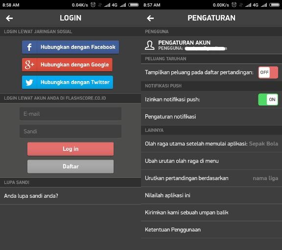 FlashScore ID Sinkronisasi Akun