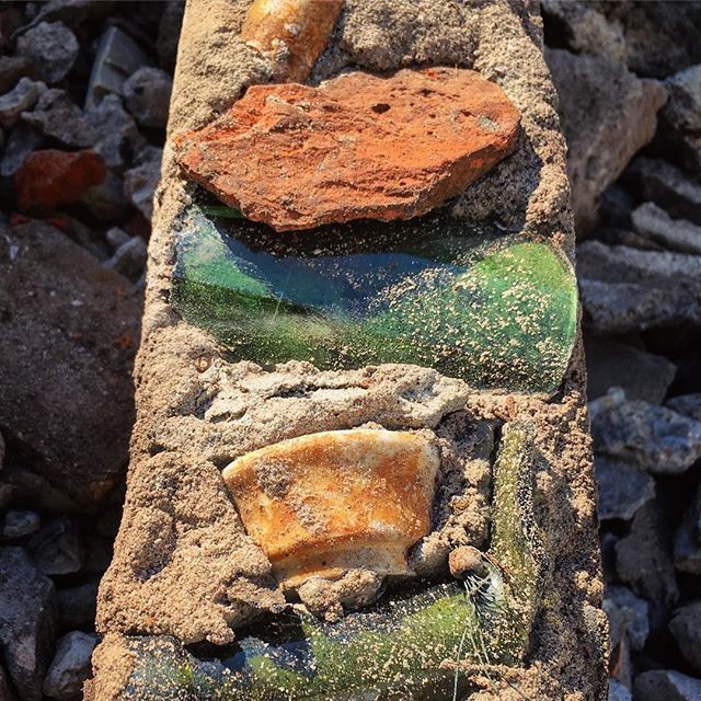 Mixed media on old concrete #foundationdemolition