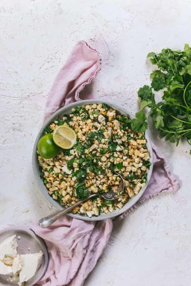 Easy Mexican Street Corn salad for Cinco De Mayo
