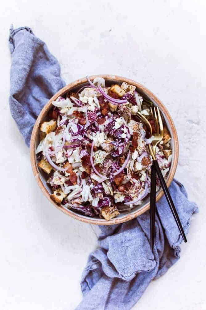 RADICCHIO SALAD WITH CREAMY RANCH