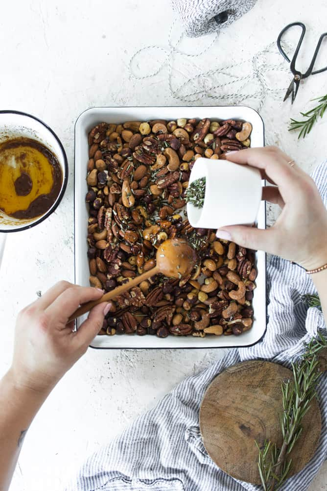SWEET AND SPICY ROSEMARY NUTS