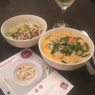 My Food Bag Chicken Laksa with Mung Bean and Crispy Shallot Salad cooked by Lena Talks