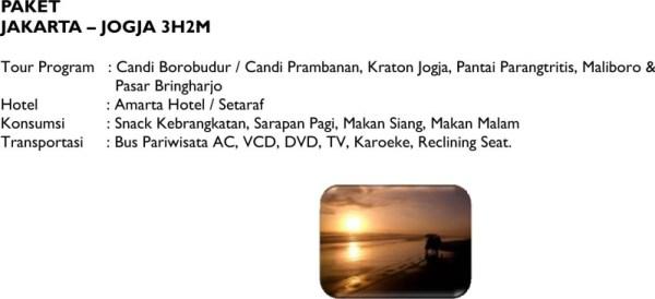 Paket Wisata - Jakarta Jogja 3H2M