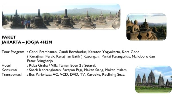 Paket Wisata - Jakarta Jogja 4H2M