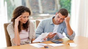 Couple who are struggling with mortgage debt