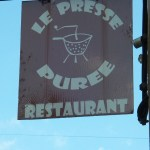 restaurant sign le presse puree
