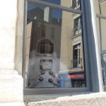 life sized astronaut doll in a shop window