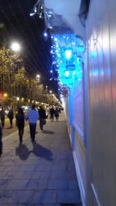 Christmas market at champs elysees