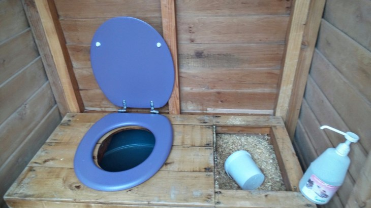 eco-friendly loo with sawdust