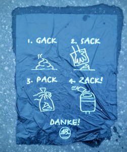 rhyming dod poop baggies have to be one of the most Viennese things I encountered lately