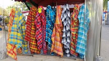 Market stall selling madras