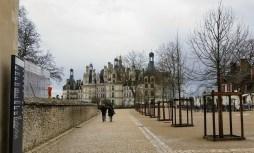 Approaching Chateau Chambord