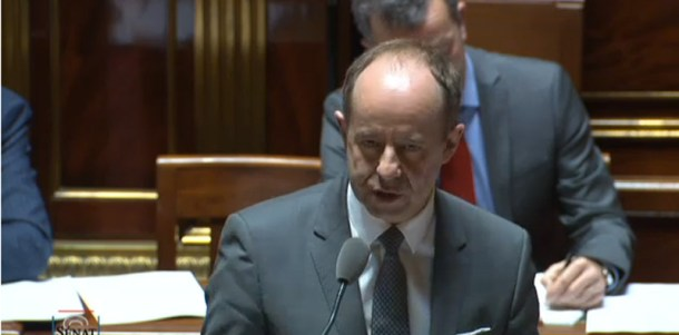 Jean-Jacques Urvoas, ministre de la Justice, au Sénat.
