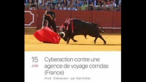 La capture d'écran du lancement de l'attaque informatique sur Facebook, réalisée par le responsable de l'agence