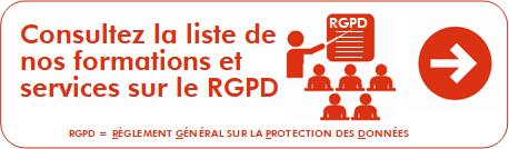 Consultez la liste de nos formations RGPD et services RGPD