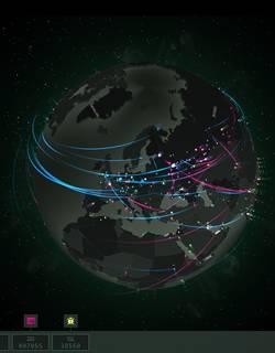 Les menaces informatiques en temps réel dans le Monde sous forme d'une planète intéractive