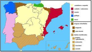 Mapa de lenguas oficiales en España