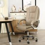 Cadeira Presidente Giratoria Almofadada Para Escritorio Marrom Claro Taupe Bege Medio Lms Be 8 661 1 Cadeiras De Escritorio