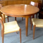 Lennarts Inc Jl Moller Models Danish Teak Table With 6 Chairs Antiques We Buy And Sell Estate Antiques Lennarts Inc Featuring Antiques Clocks And Timepieces Estate Jewelry