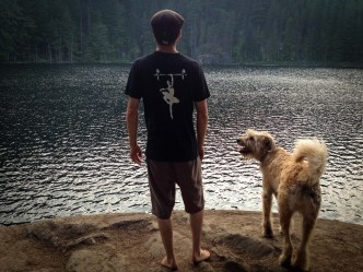 Buzz and I relaxing at Brohm Lake