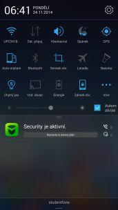 Lenovo Vibe X2 notifikace