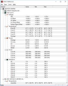 Teploty po krátké zátěži CPU