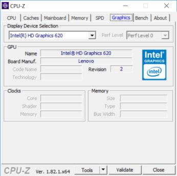 Lenovo ThinkPad 25 CPUZ graphics