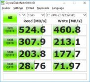 ThinkPad 11e 4th gen crystal disk mark 6