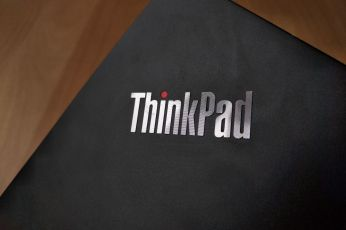 Detail loga ThinkPad.