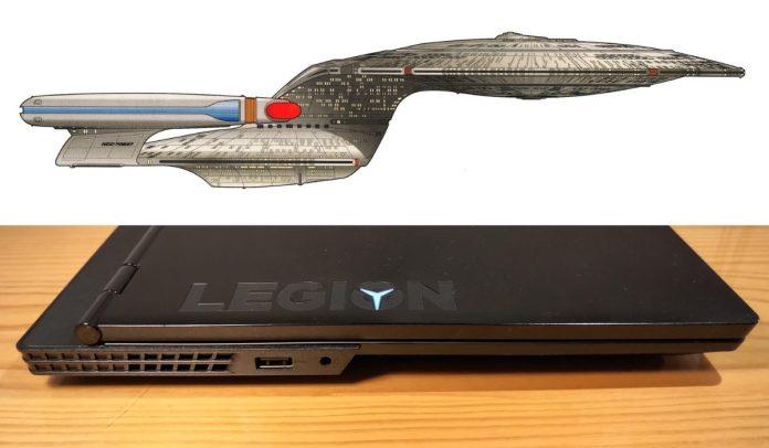 Jsem jediný, komu notebook připomíná ikonickou vesmírnou loď? (Enterprise-D, Zdroj: pinterest.com/althepolarbear)