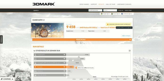 E580 - 3DMARK 1