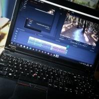 (Září 2017) Když ještě fungovala grafická karta, tak jsem notebook používal i na střih videii.