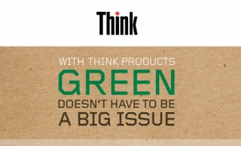 Think Green by Lenovo.