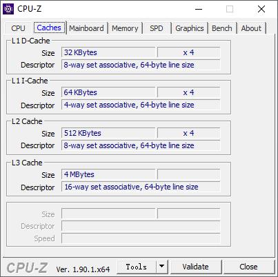 CPU-Z Cache (IdeaPad S340-14IKB).
