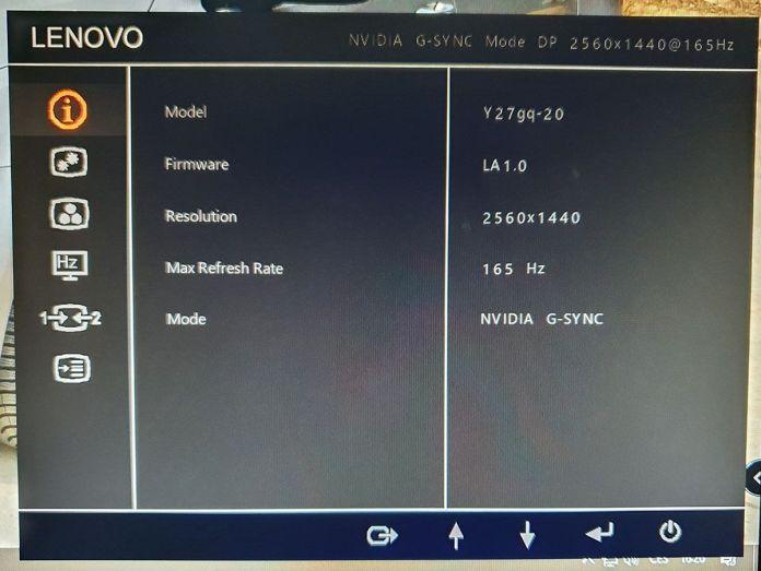 LCD Legion Y27gq-20 OSD1