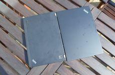 Srovnání s ThinkPadem X230 (vlevo).